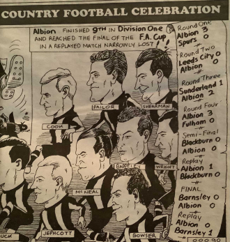 Charicature of West Brom Albion
