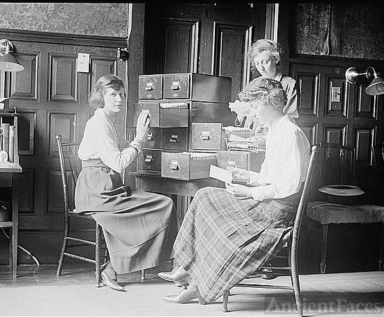 Suffragette card index