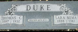 Thomas and Sara (Evans) Duke Gravestone