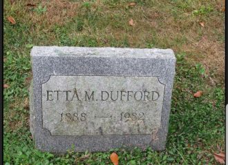 Etta May (Pettinger) Dufford Gravestone