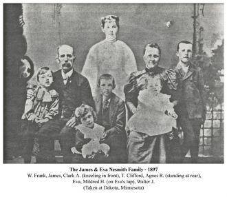 James & Eva Nesmith Family 1897