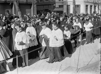 Mons. Dougherty, Dr Burns, Cardinal Gibbons, Mons. Kerby
