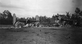 Destroyed B-24, 1943
