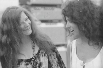 Singers Janis Joplin & Gracie Slick, 1968