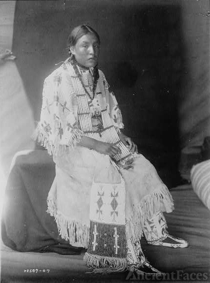 Red Elk Woman, a Sioux girl