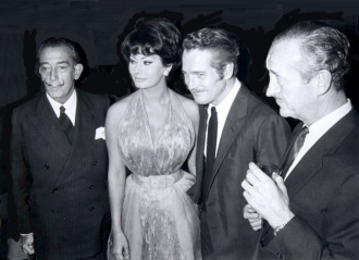 Salvador Dali, Sophia Loren, Paul Newman and David Niven