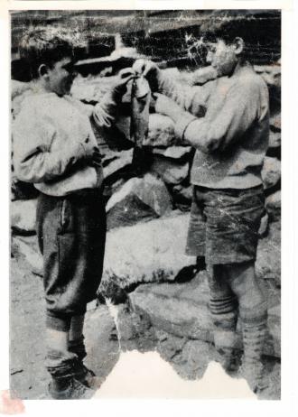 Harold Kelley with unknown friend