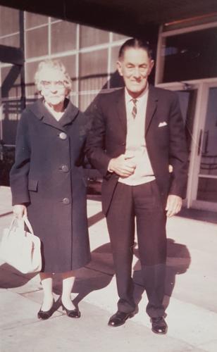 My Nanna and Grandpa Lyon at the Adelaide Airport.