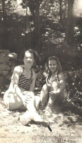 Joyce Benning with Ethel Tasker