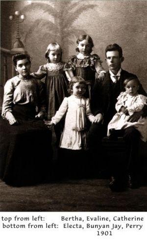Bunyan & Bertha (Case) Sloop Family, 1901