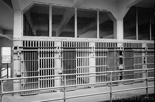 "North end of Cell Block  ""A"", Alcatraz"