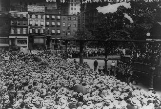 Anti-war protest WW I