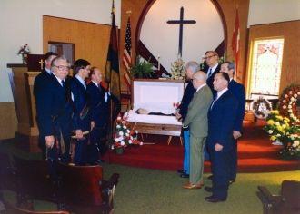Eduards Avots funeral