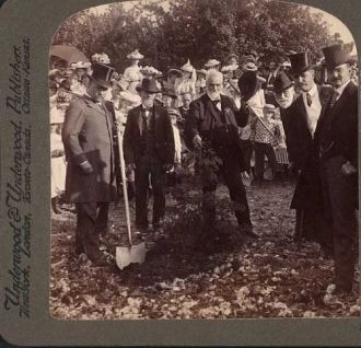 President Roosevelt Planting a Tree