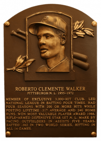 Roberto Clemente, HALL OF FAME