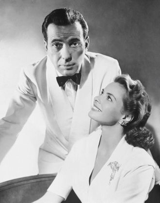 Humphrey Bogart and Ingrid Bergman