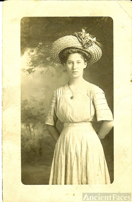 Ruth Mary Mertens at 18 years old