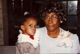 Sabina with her great great granddaughter