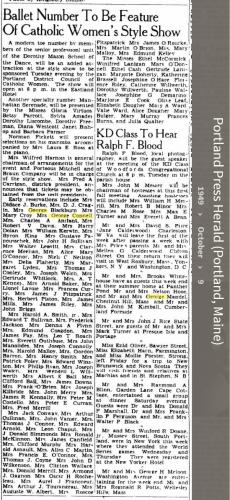 Louise Marie Hagen-Connell--Portland Press Herald (Portland, Maine) (9 oct 1949)