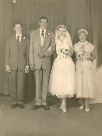 Mum as a bridesmaid for Bob and Doris Kraus