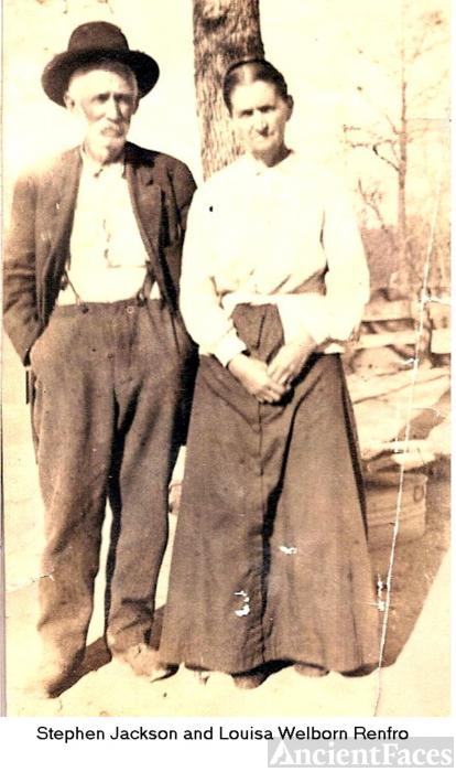 Stephen Jackson aka Sam Jack and Louisa Welborn Renfro
