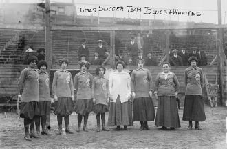 Girls Soccer Team -- Blues and Whites