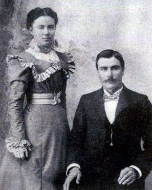 Wilmer Sheeder and Wife, 1900
