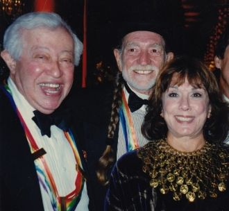Adolph Green, Phyllis Newman, and Willie Nelson