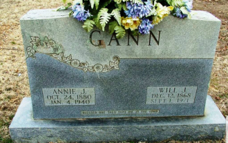 William J. Gann & his Wife Annie Gravestone