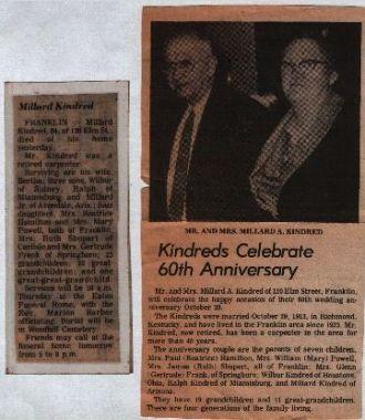 Millard A. Kindred Newsclips