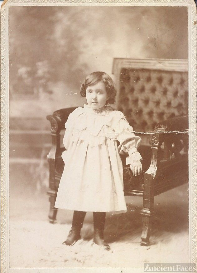 James Peebles or his child, in dress