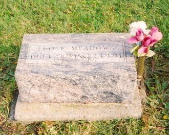 Leo Ezra Meadows gravestone