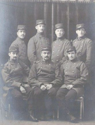 Charles Sweeny with friends in the Foreign Legion