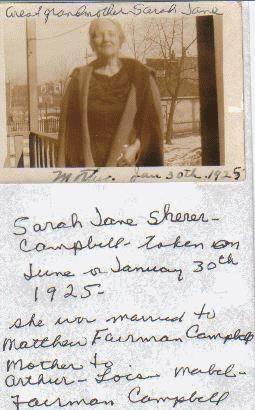 Sarah Jane Sherer / Shearer