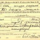 Earl W Dearborn military registration