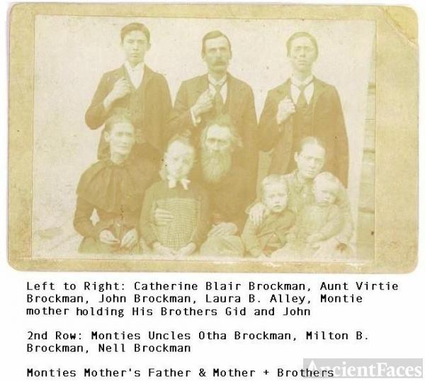 Brockman, Alley, Blair Families
