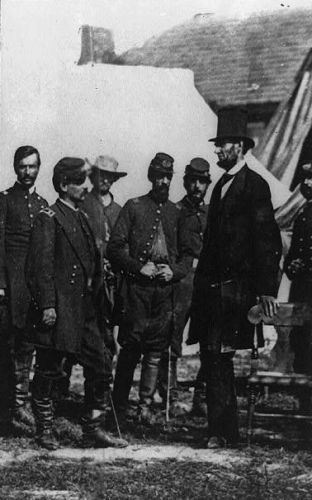 Abraham Lincoln at Antietam, Maryland