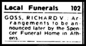 Richard Virgil Goss Obituary