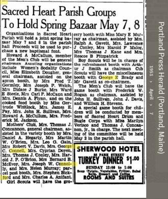 Louise Marie Hagen-Connell--Portland Press Herald (Portland, Maine) (7 apr 1951)
