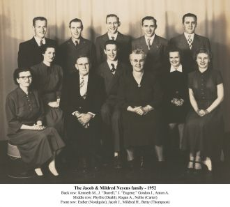 Jacob and Mildred Neyens family 1952
