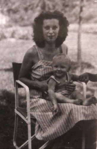 Barbara Lavallee and son