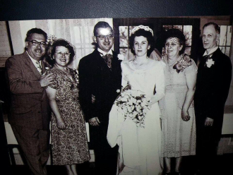 Gertrude at her son's wedding