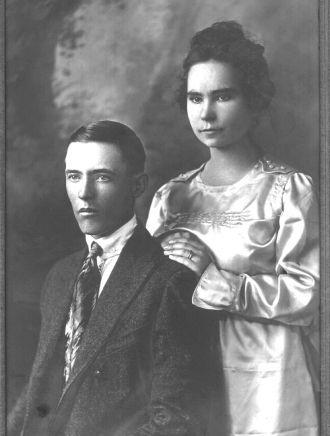 Jesse Evans Myers and Agnes Eastland Wedding Photo