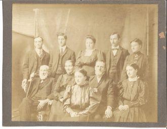 Wilson C. Witt, Saletha Will, and children