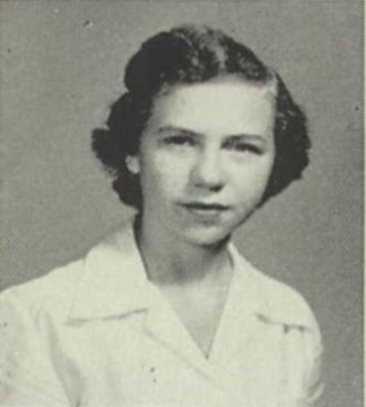 Connie Burnette - 1953 Coon High School yearbook photo