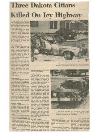Donna Sue Crull Car Crash