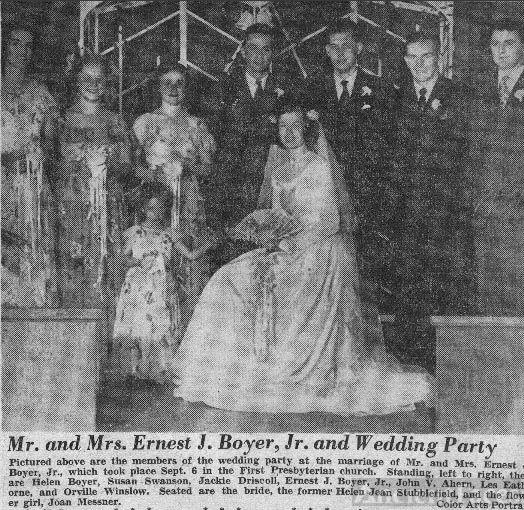 Boyer Wedding Party
