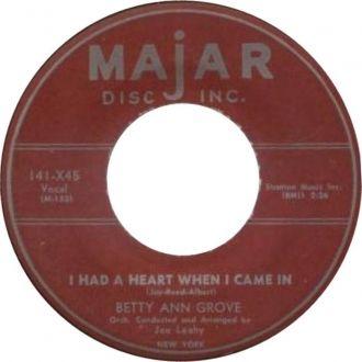 Betty Ann Grove, Majar Records