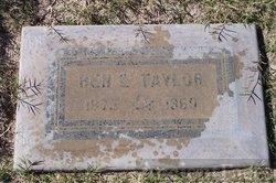 Benjamin Elbert Taylor Gravesite