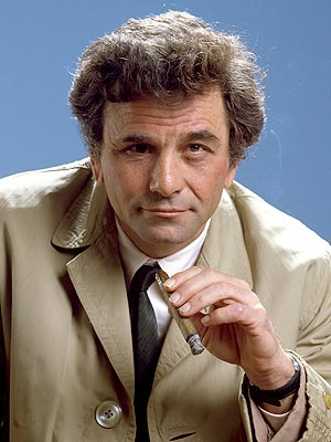 Peter Falk and his smelly cigar as Columbo.
